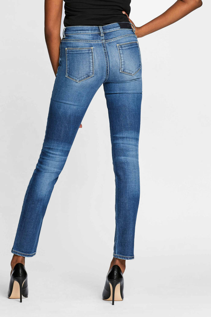 Women - Skinny Cigarette Jean - Light Blue - Japanese Denim - back image - one denim