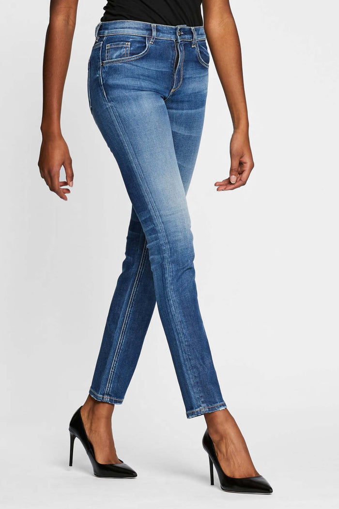 Women - Skinny Cigarette Jean - Light Blue - Japanese Denim - front image - one denim