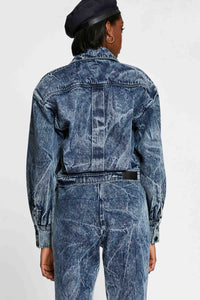 Women - Oversized Denim Jacket - Italian Organic Denim - back image - one denim