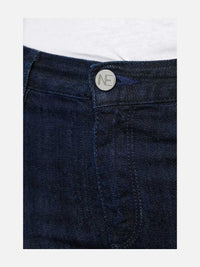 Women - Skinny Cigarette Jean - Dark - Japanese Selvedge Denim - detail front image - one denim