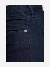 Women - Skinny Cigarette Jean - Dark - Japanese Selvedge Denim - detail side image - one denim