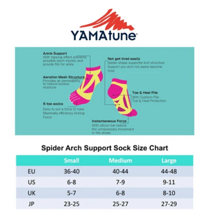 Yamatune Spider Arch 5 toe with slip short length