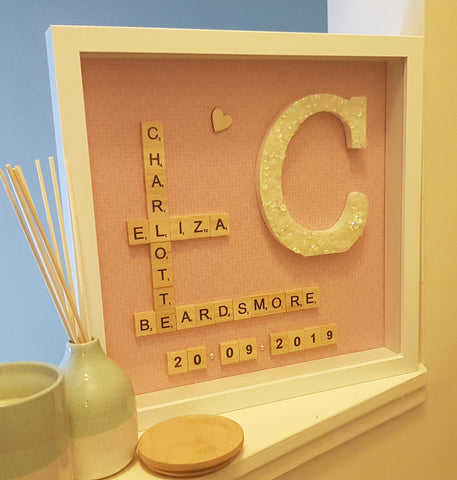 Personalised Letter Name Frame