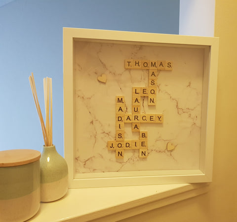 Family Tree Scrabble Frame