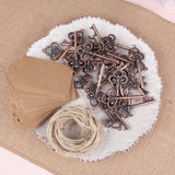 25 Pieces Vintage Beer Opener Key chain with Tag Card Wedding Favour