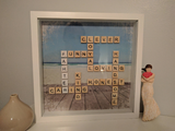 Personalised Father Scrabble Frame Gift