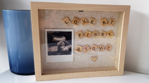 Love at First Sight Scrabble Frame