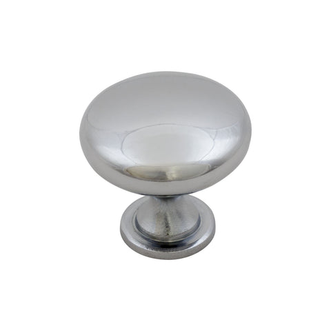 Chrome Round Furniture Knob