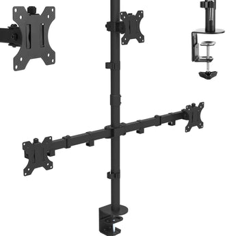 Triple Arm Desk Monitor Mount 13