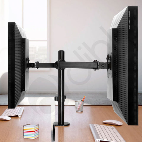 Double Arm Desk Monitor Mount for 13