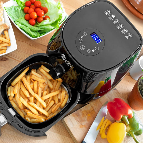Black 3.2L LED Air Fryer