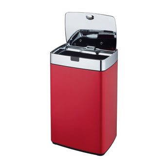 Red 35L Rectangle Iris Sensor Bin