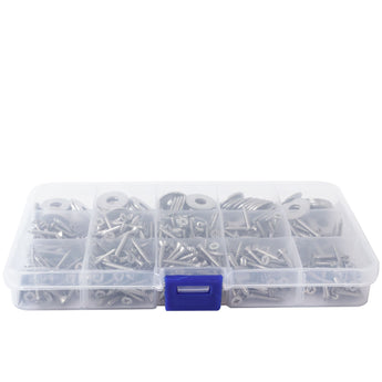 Pack of 3x Small 15 Compartment Fixings Storage Cases