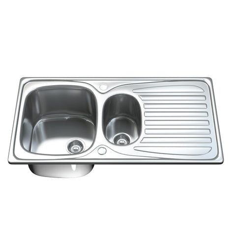 1501 1.5 Bowl Kitchen Sink with Waste