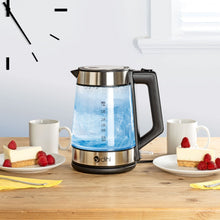 1800W 1.8L Modern Cordless Glass Blue LED Electric Kettle