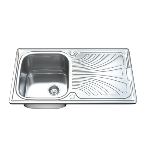 1001 Single Bowl Kitchen Sink with Waste