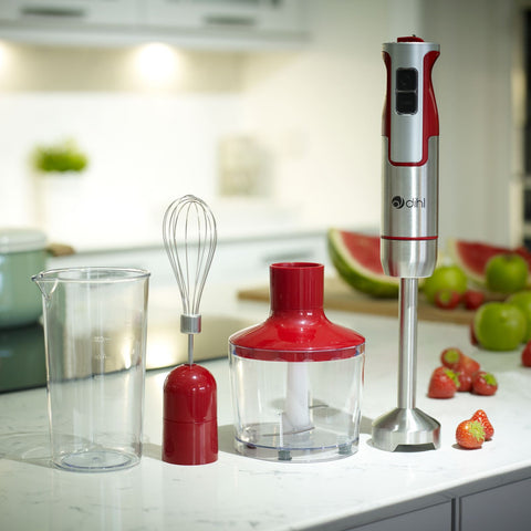 3 in 1 800w Red Electric Hand Blender