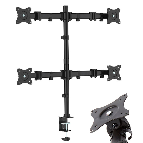 Quad Arm Desk Mount for Screens 13