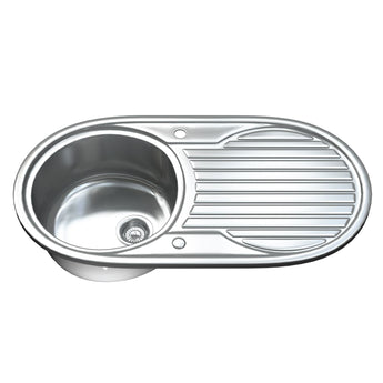 1061 Single Bowl Kitchen Sink with Waste