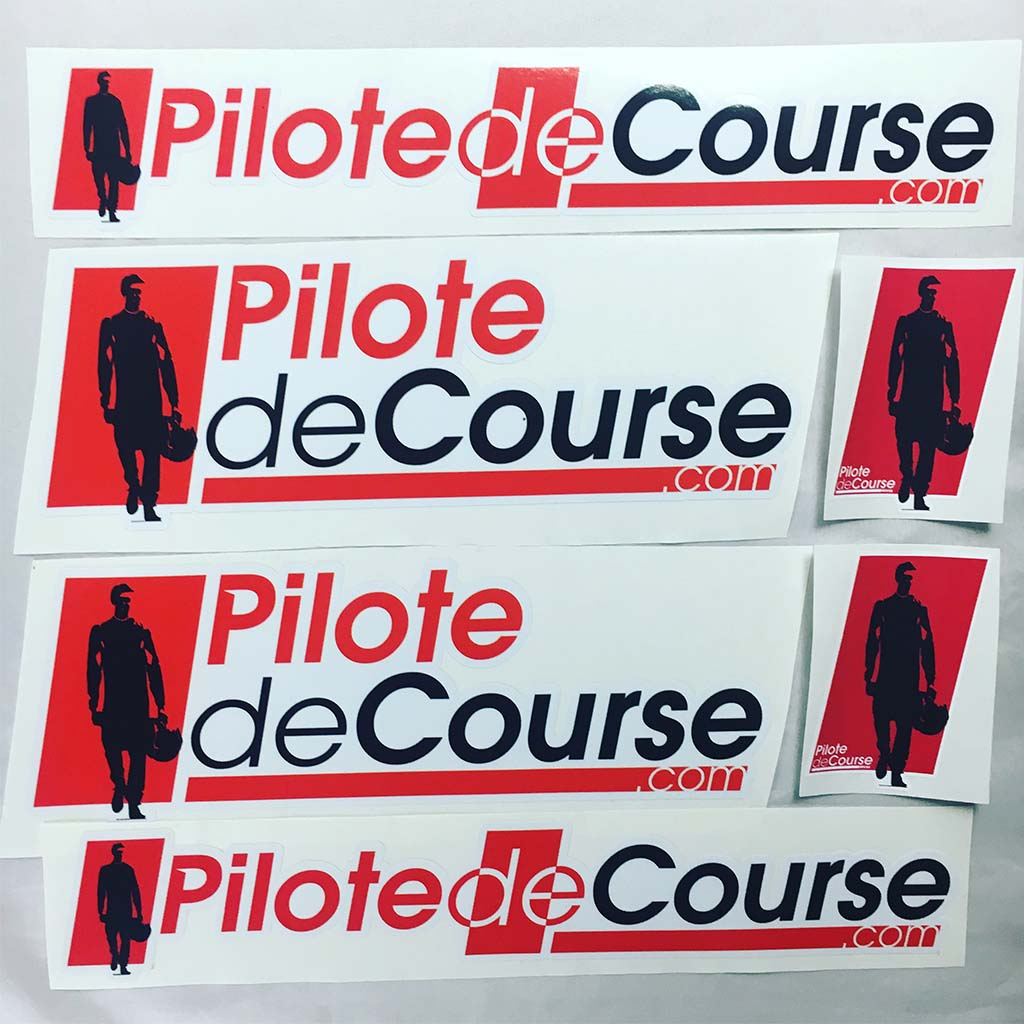lot 6 stickers Pilote de Course