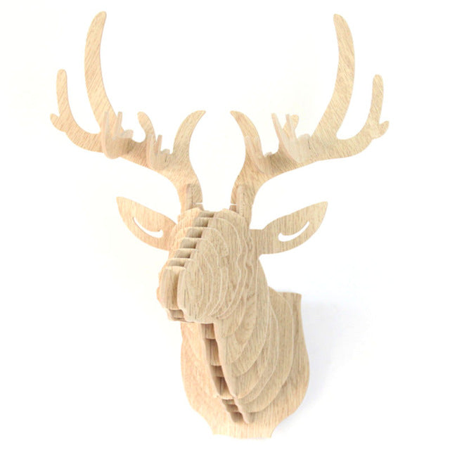 Wooden DIY Wall Deer Head