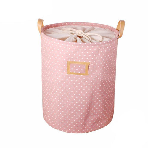 Polka Dot Laundry Basket