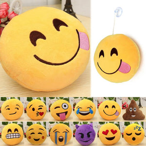 Emoticon Round Cushion