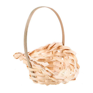 Flower Rattan Wooden Basket