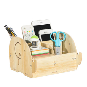 Wooden Elephant Pencil Holder