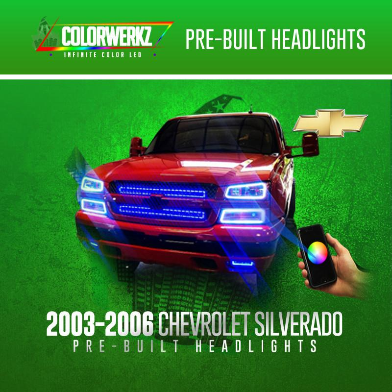 Pre-Built 03-06 Chevrolet Silverado COLORWERKZ Halo Kit