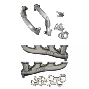 PPE 116111100 HIGH-FLOW RACE EXHAUST MANIFOLDS WITH UP-PIPES 2001-2015 GM 6.6L DURAMAX (W/ TWIN TURBOS)
