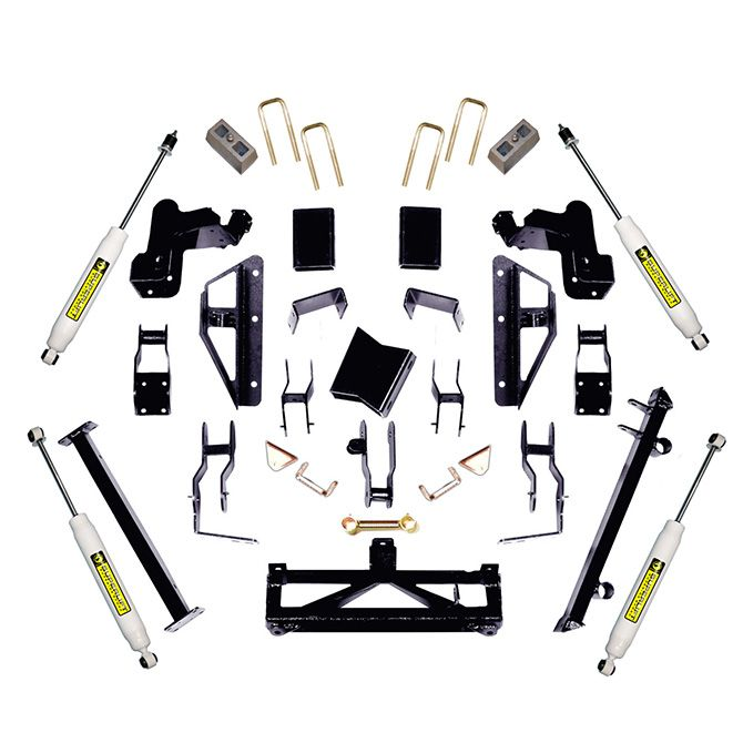 SuperLift 6-7.5 inch Lift Kit - 2009-2010 Chevy Silverado and GMC Sierra 2500HD or 3500 4WD - Bracket Style Kit with Superide Shocks or Bilstein Shocks