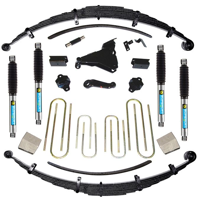 SUPERLIFT 8 inch Lift Kit - 2000-2004 Ford F-250 and F-350 Super Duty 4WD - Diesel and V-10 - with Superide Shocks or Bilstein Shocks