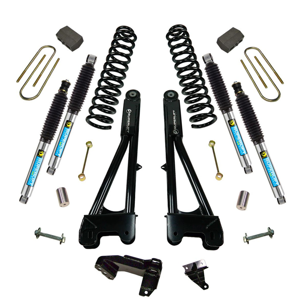 Superlift 4 inch Lift Kit - 2011-2016 Ford F-250 and F-350 Super Duty 4WD - Diesel Engine - with Replacement Radius Arms and Superide Shocks or Bilstein Shocks