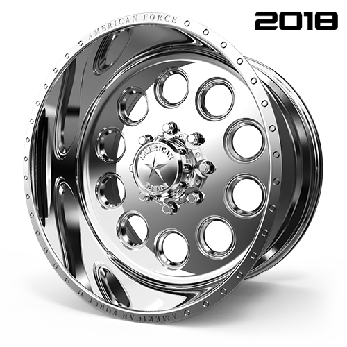 AMERICAN FORCE F09 BIG-TEN SS FORGED ALUMINUM WHEEL - 8 LUG 8X170 - Polish