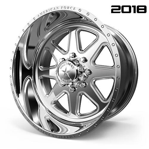 AMERICAN FORCE F22 RANGE SS FORGED ALUMINUM WHEEL - 8 LUG 8X170 - Polish