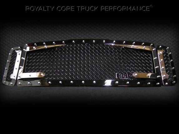 ROYALTY CORE Ford Super Duty 1999-2004 RC3DX Black & Chrome Main Grille 3 Piece No Sword
