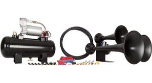HORNBLASTERS OUTLAW 127H BLACK TRAIN HORN KIT