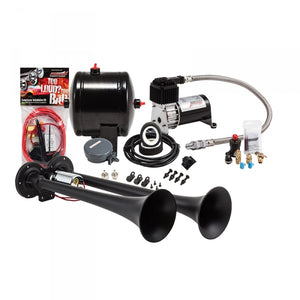 KLEINN HK2-1 BLACK DUAL TRUCK HORN KIT UNIVERSAL - MANY MAKES & MODELS