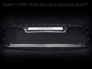 Royalty Core Chevy 2500/3500 2007-2010 RCRX LED Full Grille Replacement-Top Mounted LED