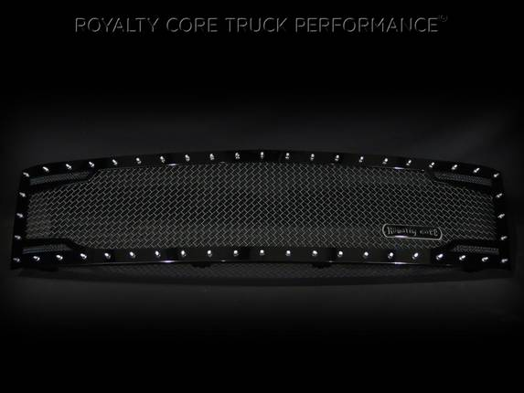 Royalty Core Chevy 2500/3500 2007-2010 Full Grille Replacement RC2 Twin Mesh Grille