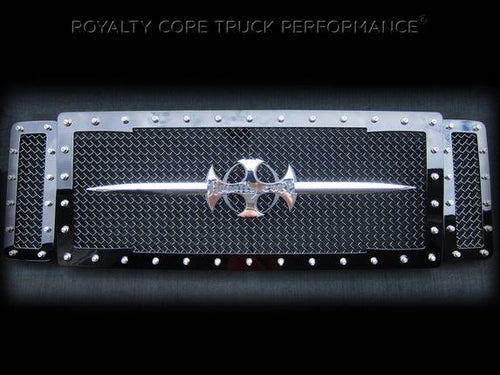 ROYALTY CORE Ford Super Duty 2005-2007 RC1 Main Grille 3 Piece with Chrome Sword Assembly