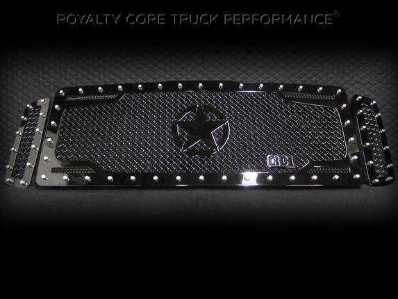ROYALTY CORE Ford Super Duty 2005-2007 RC2 Twin Mesh Main Grille 3 Piece w/ War Star