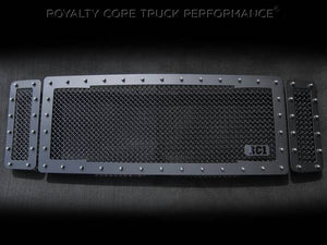 Royalty Core RC1 Main Grille 3 Piece Satin Black For 2008-2010 Ford F-250/350 Super Duty