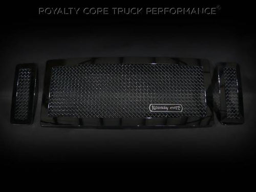 Royalty Core RC1 Main Grille 3 Piece No Studs-Smooth Look For 2008-2010 Ford F-250/350 Super Duty