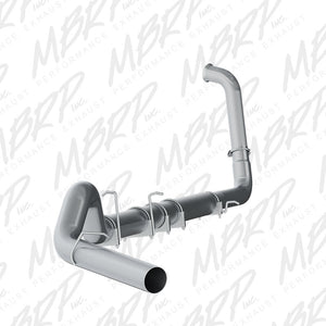 "MBRP S62240PLM 5"" TURBO BACK SINGLE SIDE - NO MUFFLER FOR 2003-2007 FORD F-250/350 OFF-ROAD USE"