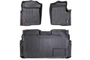 ROUGH COUNTRY HEAVY DUTY FLOOR MATS [FRONT/REAR] - (11-14 FORD F-150 SUPERCREW CAB)