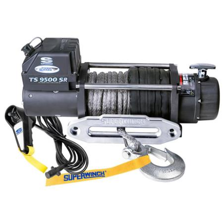 SuperWinch Tiger Shark 9500 9500lb Winch with Synthetic Rope - 1595201