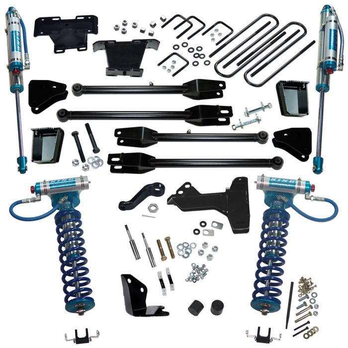 SUPERLIFT 6 inch Lift Kit - 2005-2007 Ford F-250 and F-350 Super Duty 4WD - with a 4-Link Conversion, King Coilovers and King rear Shocks