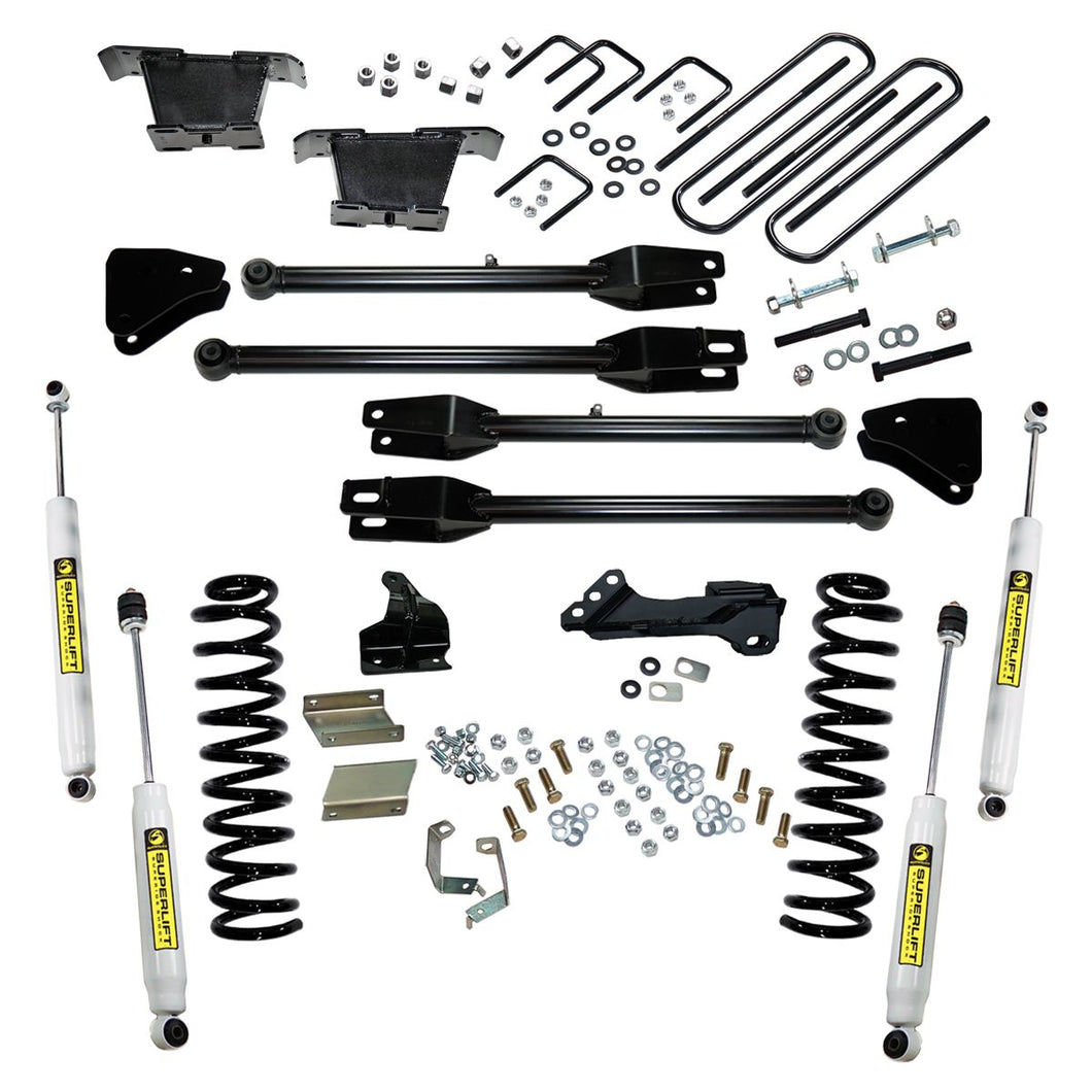 Superlift 4 inch Lift Kit - 2011-2016 Ford F-250 and F-350 Super Duty 4WD - Diesel Engine - with a 4-Link Conversion and Superide Shocks